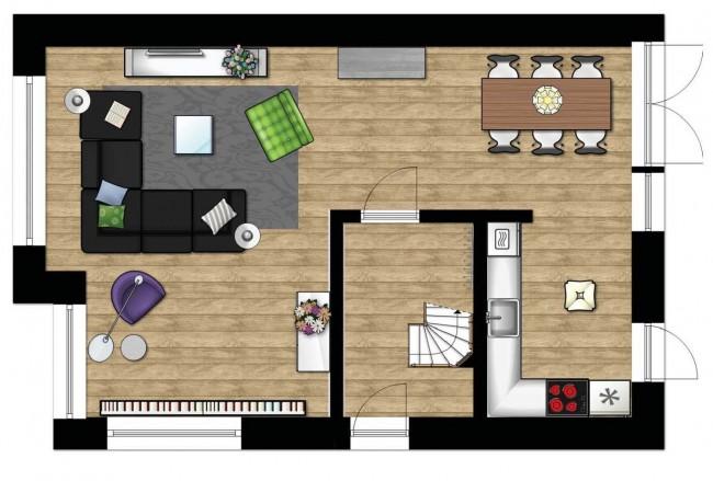 Caroliens interieurstyling inrichting moderne woonkamer for 2d plattegrond maken