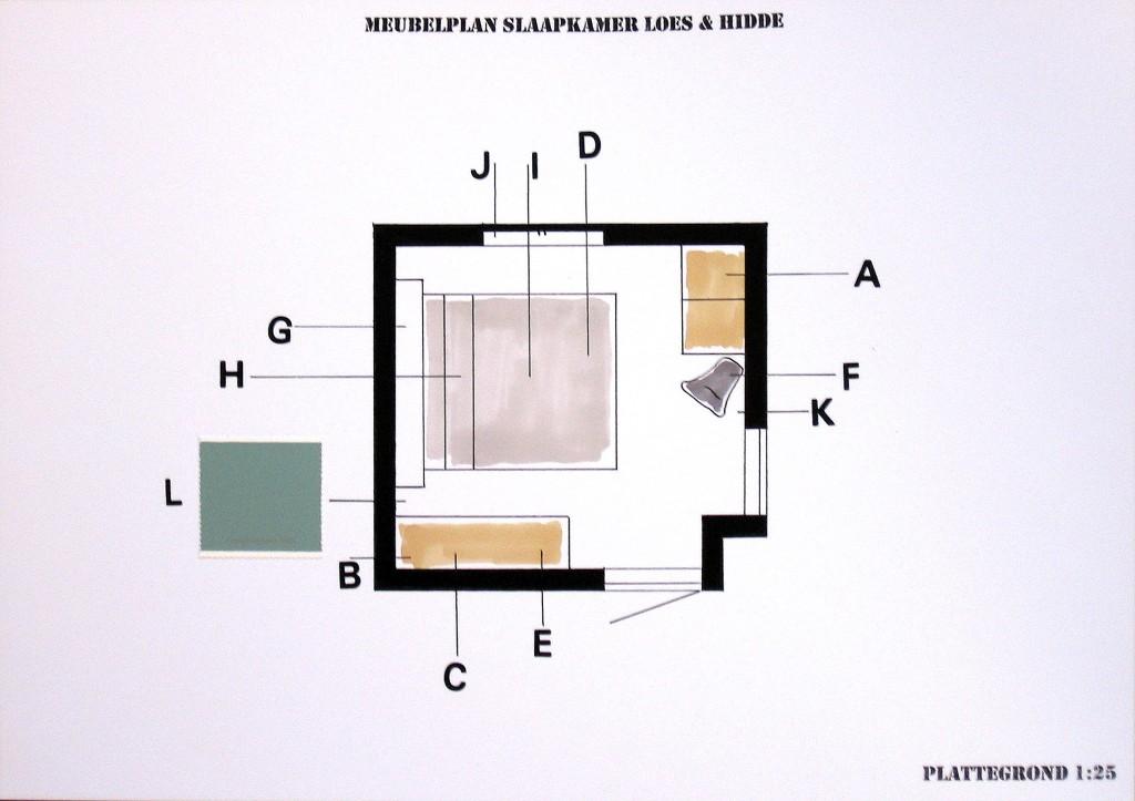 Meubelplan slaapkamer